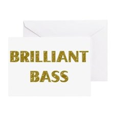 Brilliant Bass Greeting Card