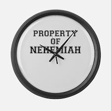 Property of NEHEMIAH Large Wall Clock