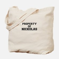 Property of NICKOLAS Tote Bag