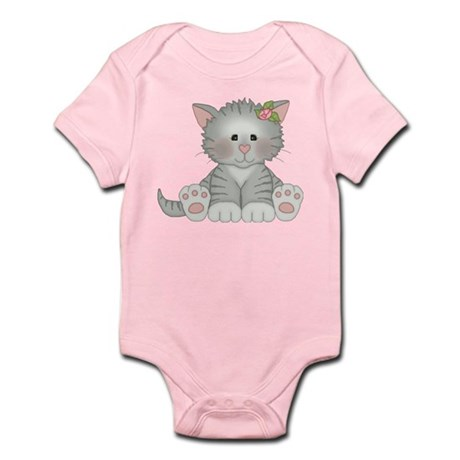 Gray Kitty Infant Body Suit