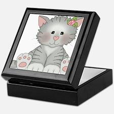 Gray Kitty Keepsake Box
