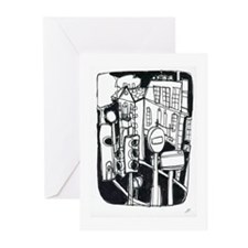 Unique London Greeting Cards (Pk of 10)
