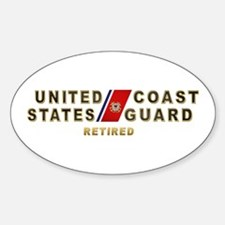 USCG Retired Oval Decal