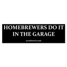 HOMEBREWERS DO IT - Bumper Stickers