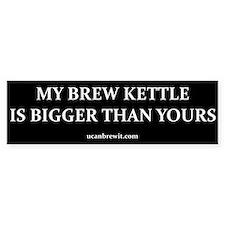 MY BREW KETTLE... - Bumper Bumper Sticker