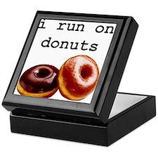 i run on donuts Keepsake Box