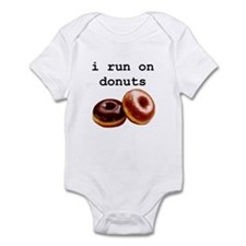 i run on donuts Infant Bodysuit
