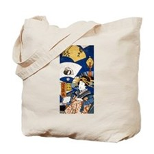 Woman with Fans Tote Bag