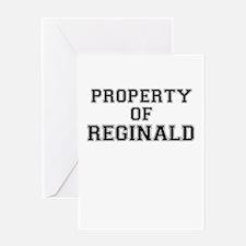 Property of REGINALD Greeting Cards