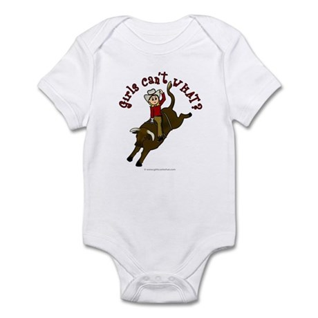 Light Bull Riding Infant Bodysuit