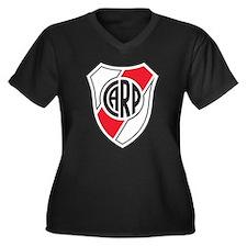 Escudo River Plate Women's Plus Size V-Neck Dark T