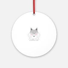 Little Cub Round Ornament
