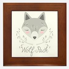 Wolf Pack Framed Tile