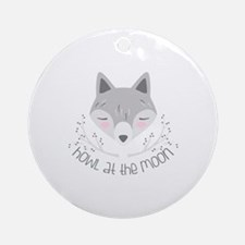 Howl At Moon Round Ornament