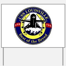 USS Louisville SSN 724 Yard Sign