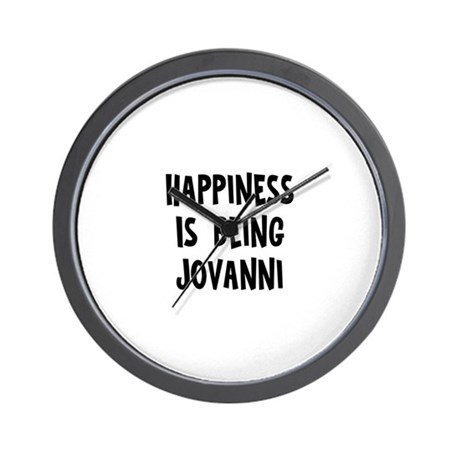 Happiness is being Jovanni Wall Clock