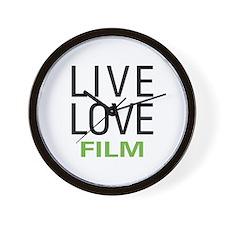 Live Love Film Wall Clock