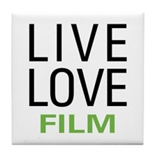 Live Love Film Tile Coaster