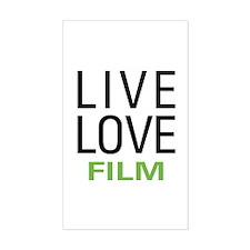 Live Love Film Decal
