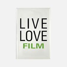 Live Love Film Rectangle Magnet