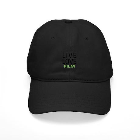 Live Love Film Black Cap
