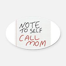 Cute Note Oval Car Magnet