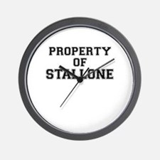 Property of STALLONE Wall Clock