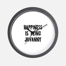 Happiness is being Jovanny Wall Clock