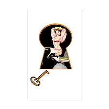 Keyhole Cuties #24 - Rectangle Decal