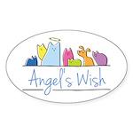 Angel's Wish Sticker (Oval)