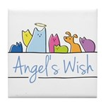 Angel's Wish Tile Coaster