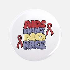 """AIDS Knows No Race 3.5"""" Button"""
