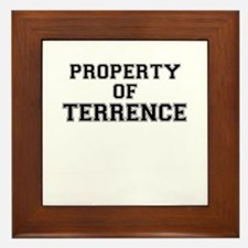 Property of TERRENCE Framed Tile