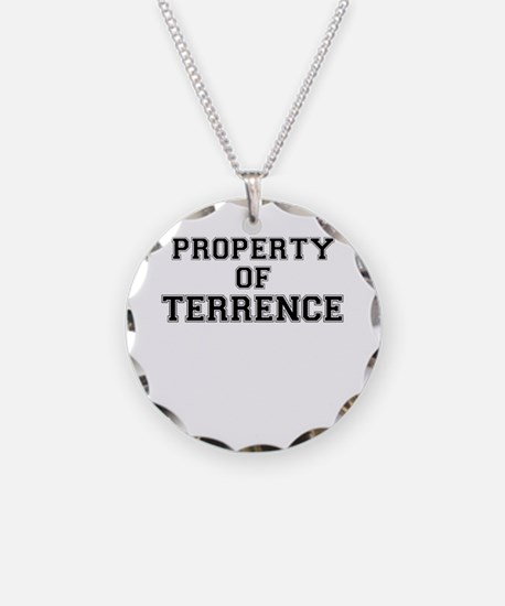Property of TERRENCE Necklace Circle Charm