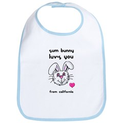 SOME BUNNY LUV'S YOU FROM CALI Bib