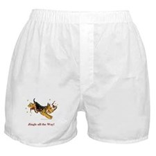 Holiday Airedale Dashing Dog! Boxer Shorts