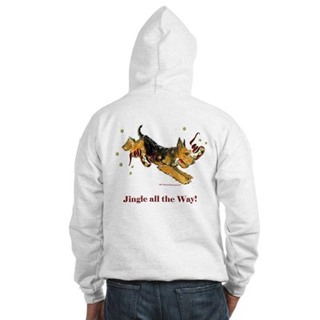 Holiday Airedale Dashing Dog! Hooded Sweatshirt