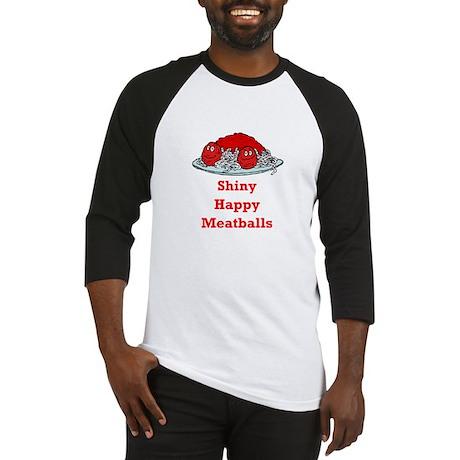 Shiny Happy Meatballs Baseball Jersey