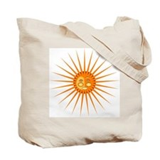 Starry Moon and Shining Sun Face Tote Bag