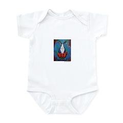 Marcy Hall's Lotus Rabbit Infant Bodysuit