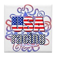 USA Racing-2 Tile Coaster