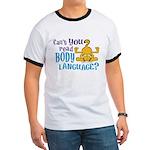 Body Language Garfield Ringer T