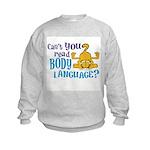 Body Language Garfield Kids Sweatshirt