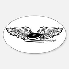 Flying Turntable Oval Decal