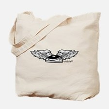 Flying Turntable Tote Bag
