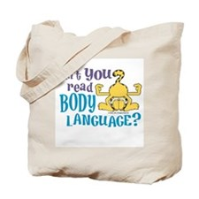 Body Language Garfield Tote Bag