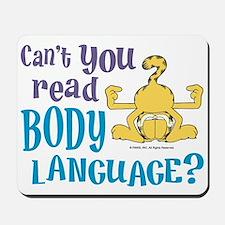 Body Language Garfield Mousepad