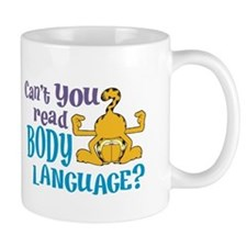 Body Language Garfield Mug