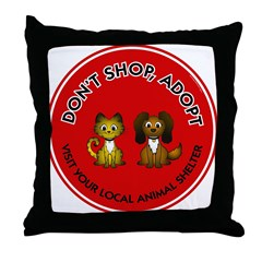 Don't Shop, Adopt Throw Pillow