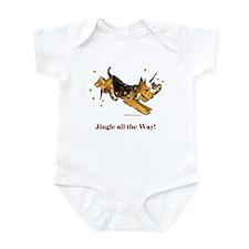 Welsh Terrier Holiday Dog! Infant Bodysuit